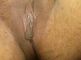Luv to give your swollen clit a tongue lashing then slide my thick cock up and down your huge hard clit and wet pussy!!!