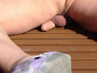 Enjoying the sun in my garden but would like some help with the cream ?