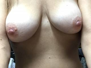 I like my tits. Anyone want suck them and blow a load of cum on them?
