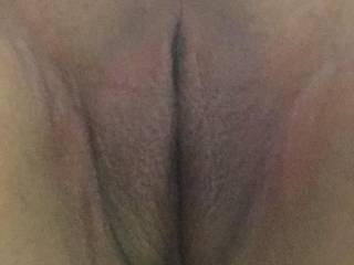 Picture of her shaved pussy before she met up with a friend to have some fun on their lunch breaks!