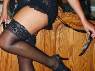 Teasing hubby again during another photo shoot.  Panties on the floor.  I enjoy your comments.  We will post more.