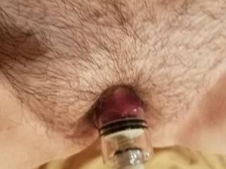 Pumped hairy pussy