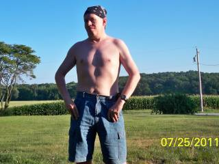 I took this outside to show off chest.