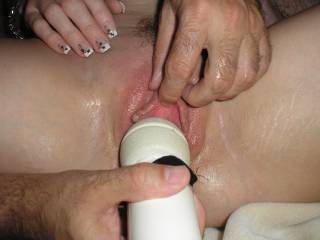 making her cum with my magic wand!
