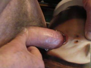 pushing my dick deep into your mouth ...