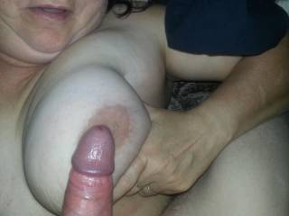 Good pair. Big boob, big dick