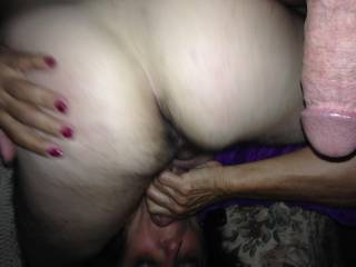 GF 69 with another lover....working her way up to his asshole for a licking....loved hearing his moans as she worked her tongue around his hole