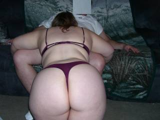 Gotta love it when her hubby takes a pic of his wife going down on you!  Doesn't she have a great looking ass?