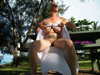 flashing at our beach side park!!