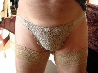 if your going to wear panties. then do it right. throw in the tights and your ready to go! very nice!