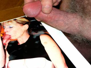 Shooting all over Catlovers as she tongues her husband\'s cock.