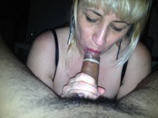 girlfriend...sucking with condom...
