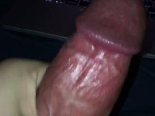 Trying out a new cock ring, and enjoying an excellent 3some porn I found. Maybe next time I'll throw in a cum shot... would you like that?
