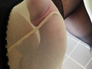 Nylon really gets me hard - especially if I layer it!