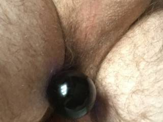 playing with my new glass dildo before I let my wife have it...