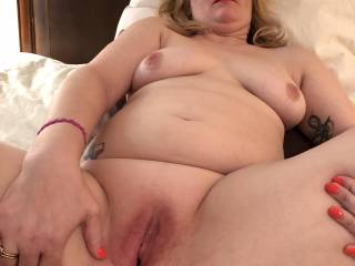 Just after taking my first BBC.  It was devine.  He pounded me hard and I came and came.