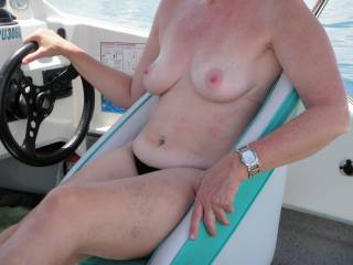 Great summers day on the boat, loving the sunshine.