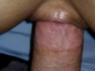 Pussy skin wrapped around my cock