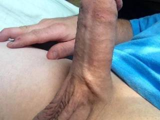 Playing with my cock !