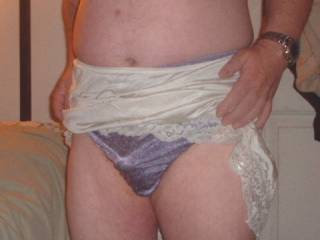 Ex wife's panties I used to love playing in these, especially the morning after she'd cum home from a girls night out & the crotch with still be damp from sperm leaking out overnight... I also loved playing in these while I watched her get some cock !