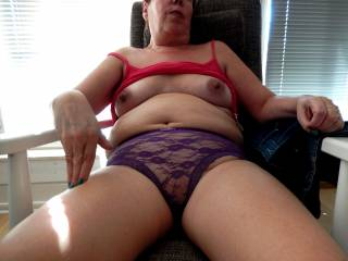 She is my 57 y/o wife.What would you like to do with her.........