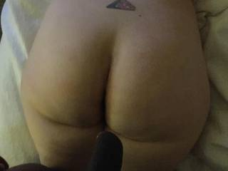 Getting ready to make her big ass giggle and her pussy squirt some more.