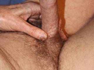 I would love to brush my swollen glans across your clit a few times before you slide down onto 'Him' and wrap your vagina tightly around 'Him' so that we can fuck.