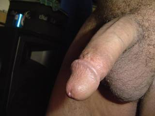 My semi-hard dick. First time photos. What do you think, ladies?