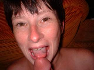 getting ready to cum in her mouth