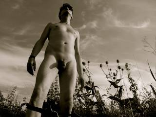 outdoor naked ..in the fields