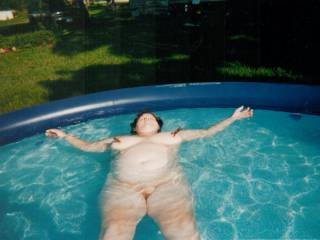My mate took a picture of me swimming nude.