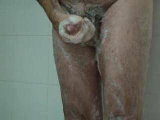 Video of washinng my penis in the shower
