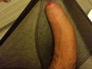 Being horny at work. Went to the bathroom to see what I felt in my shorts. Had to share this one with you.