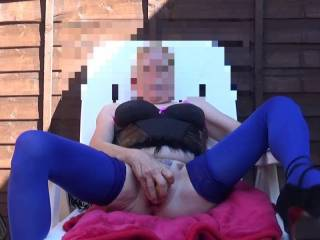 Hi it,s me again having a little me time in the garden, I do so love playing with my toys, what do you think comments please mature couple