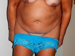 She is my 58 y/o wife.Do you like her mature body.......