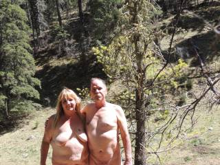 It's a bit of a long way to travel but we would love to get naked in the outdoors with you both.
