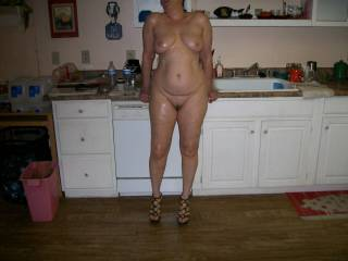 wife posing nude for me.