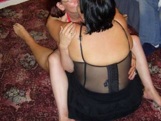 Naughtysarah and Mrs MNDUK getting a little closer and sharing an intimate moment... Do you wanna join in?