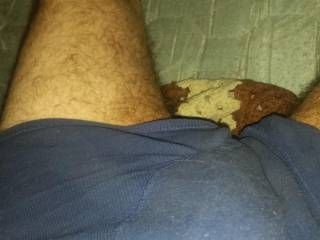 My bulge  my cock wants to come out