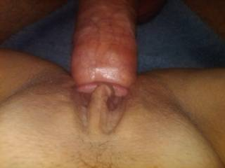 his big cock sliding in my pussy