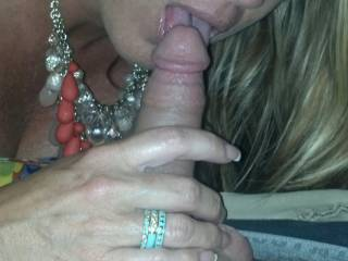 My friends wife sucking my cock